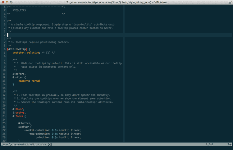 A screenshot of my Vim setup